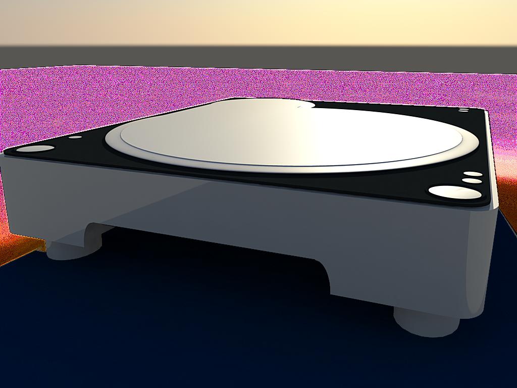 Faire une platine vinyle en autodesk maya libe blog - Fabriquer une platine vinyle ...