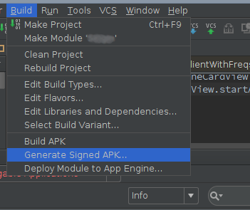 apk from intellij